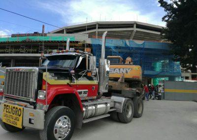 Demolición del Antiguo Movistar Arena en Bogota